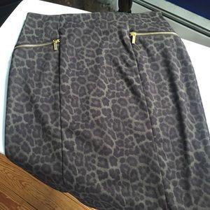 Michael Kors Animal Print Skirt Size 12